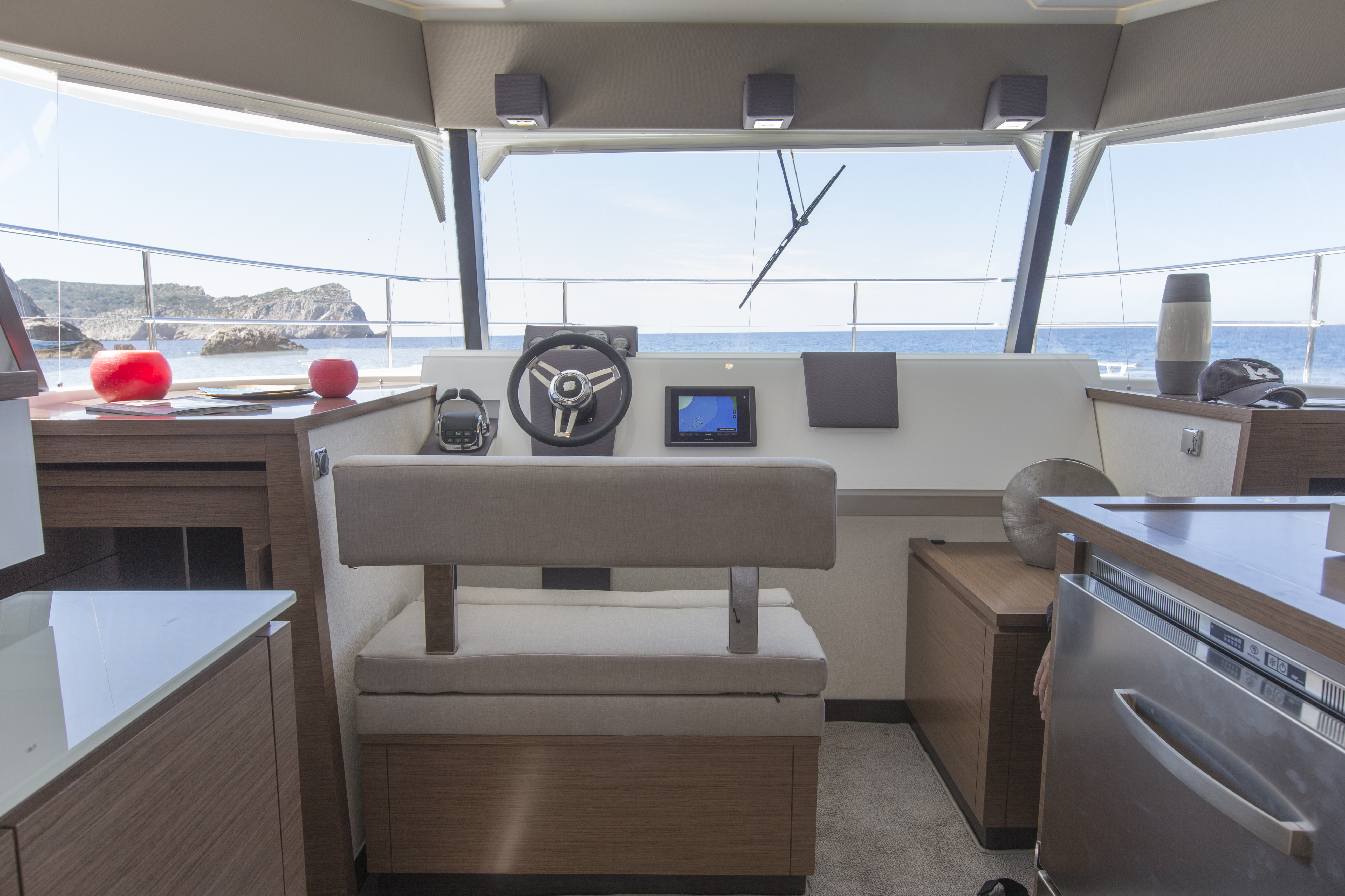 Fountaine Pajot power catamaran MY 37 for sale at Miami Boat Show