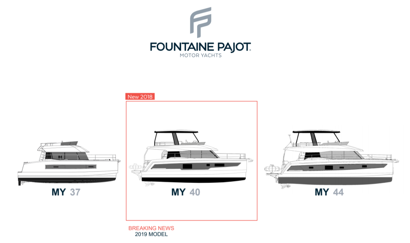 Motor Yachts - Fountaine Pajot range now includes a MY 40