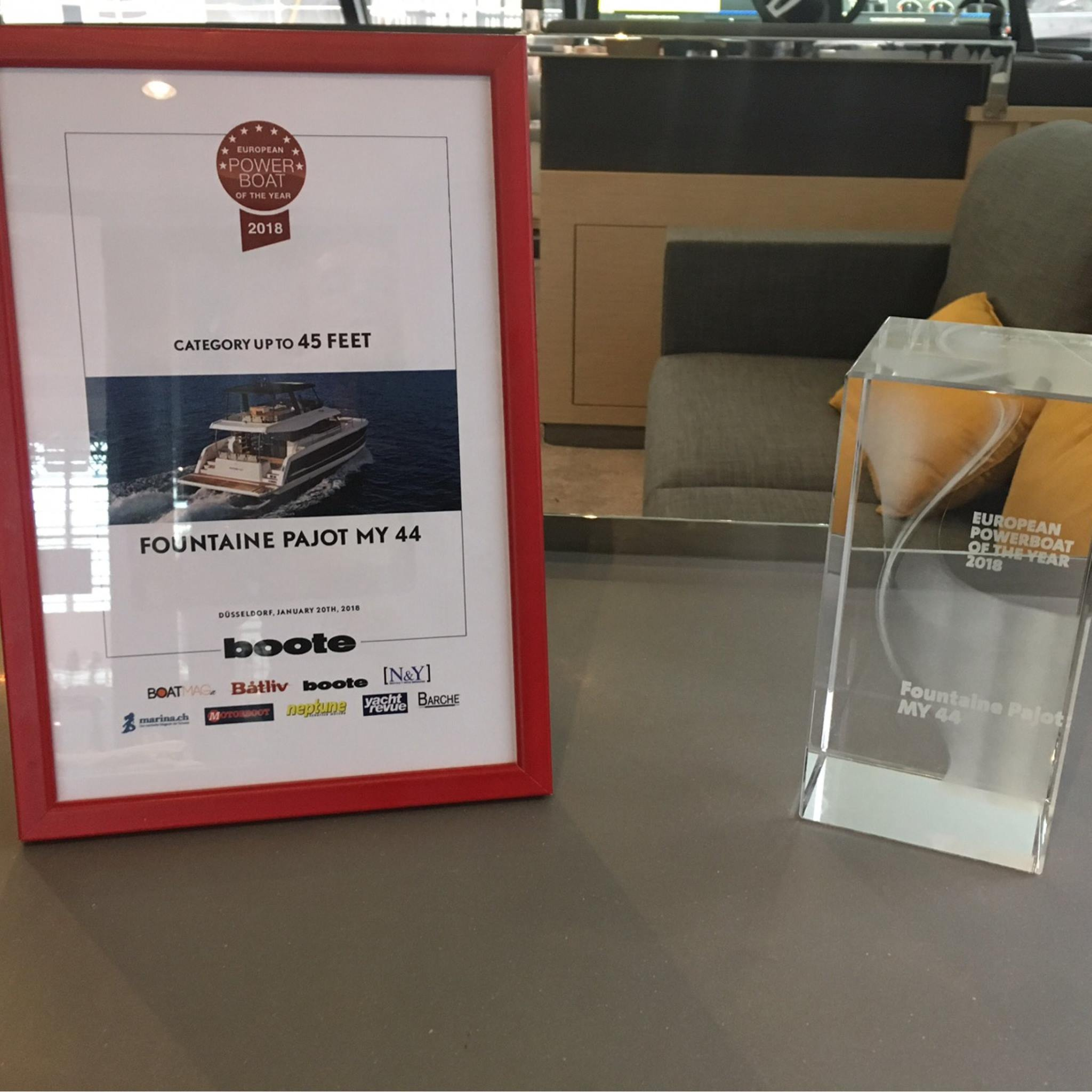 MY 44 Fountaine Pajot European Powerboat Award in BOOT Dusseldorf 2018