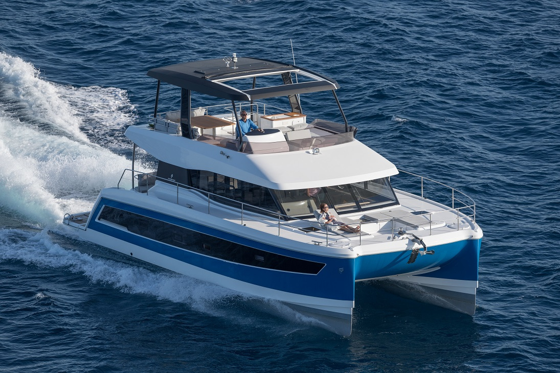 Fountaine Pajot MY 44 Power Catamaran for sale at Miami Boat Show