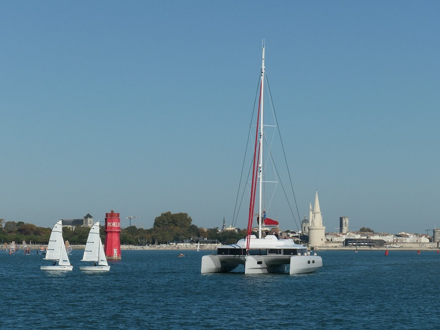 NEEL 65 Evolution trimaran sailing in La Rochelle bay - boats for sale by Caribbean Multihulls