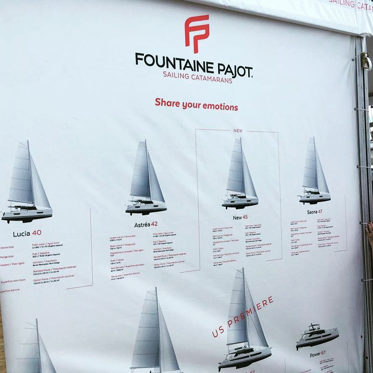 2019 Miami Boat Show - Fountaine Pajot stand