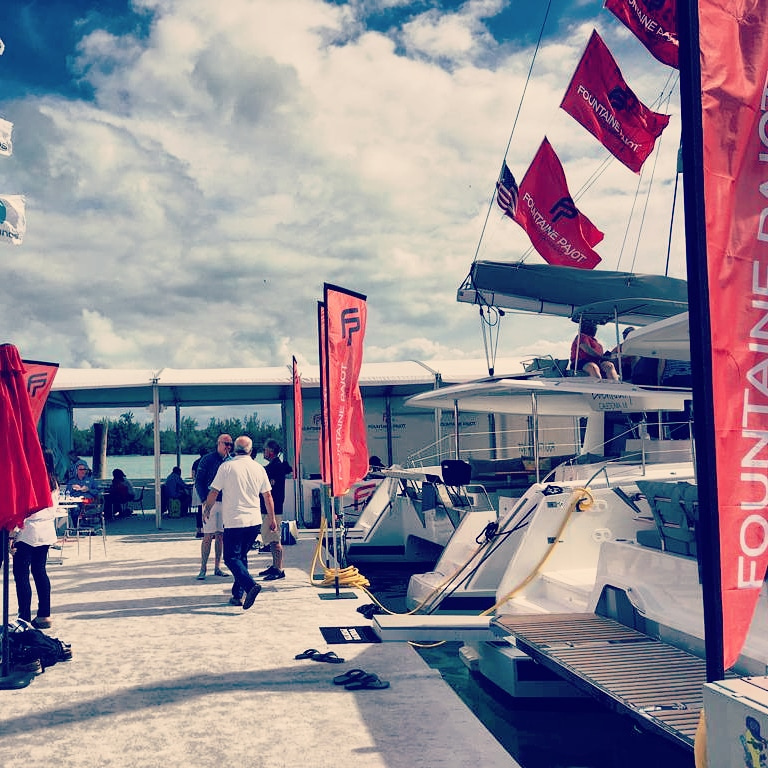 Fountaine Pajot stand at 2019 Miami Boat Show