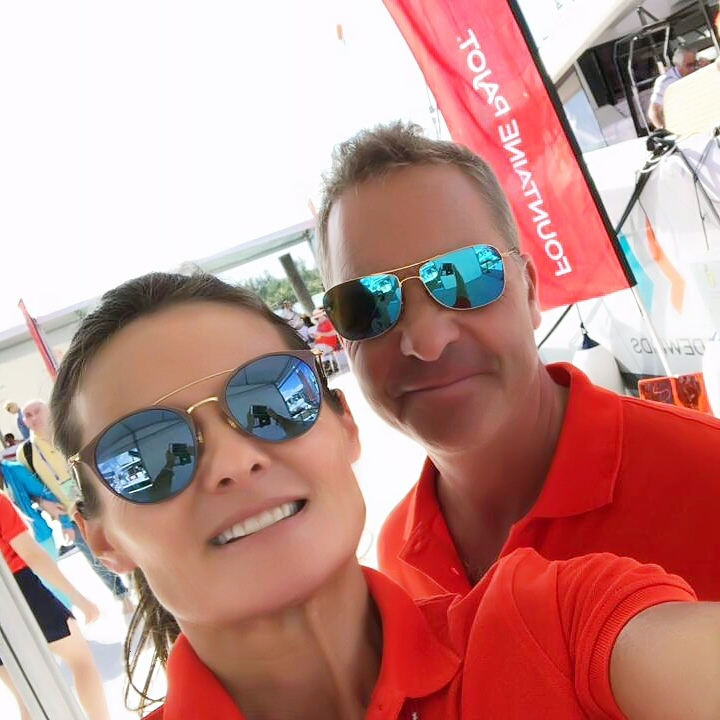 Peter our director and Anne-Sophie, our New Fountaine Pajot Sales rep