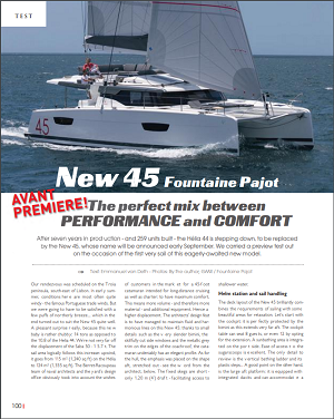 Fountaine Pajot ELBA 45 review by Multihulls World 2019