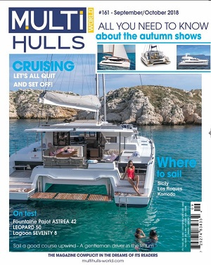 Astrea 42 Review - Fountaine Pajot - by Multihulls World #161 in Sept/Oct 2018