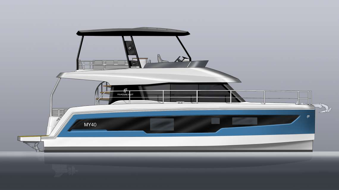 MY 40 - New Fountaine Pajot motor yacht model
