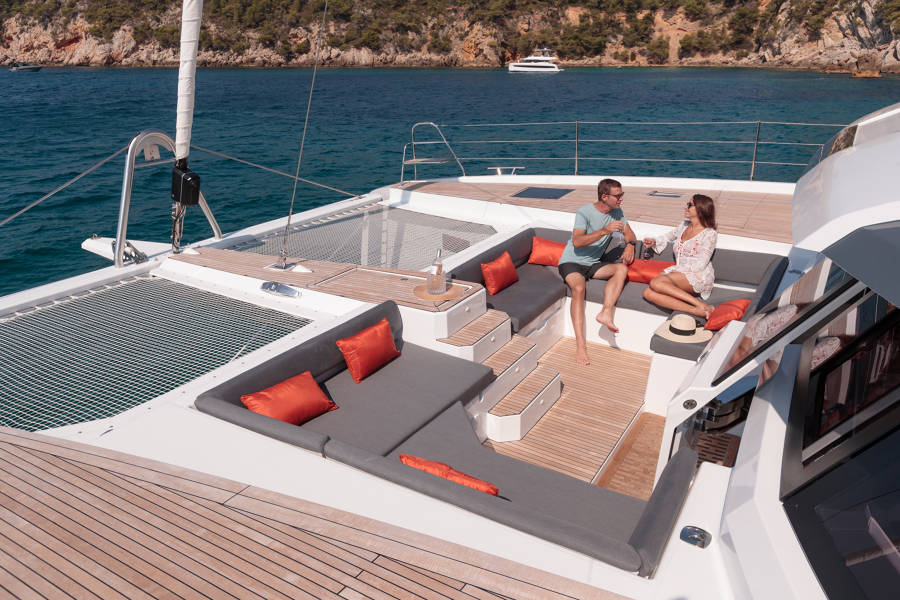 Exterior relaxing areas of Fountaine Pajot New 59