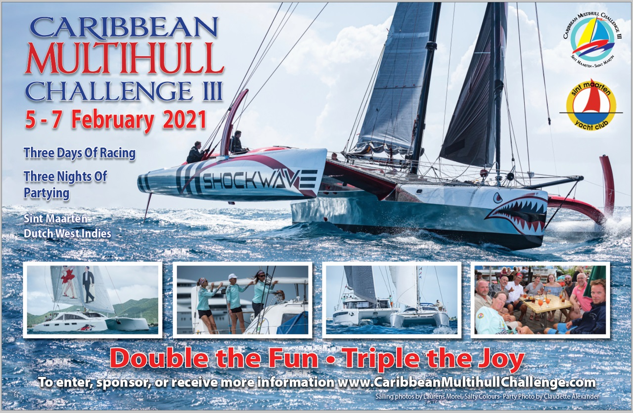 Poster of the 2021 Caribbean Multihull Challenge
